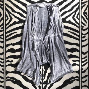 Soft Surroundings Gray Alexis Vest
